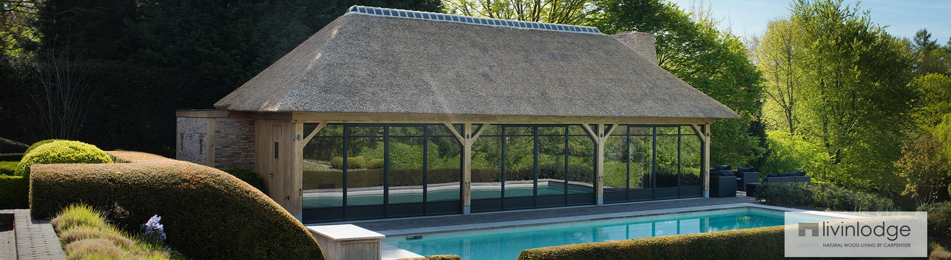 houten poolhouse cottage