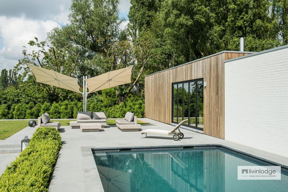 Moderne poolhouse met hobbyruimte te Tielt