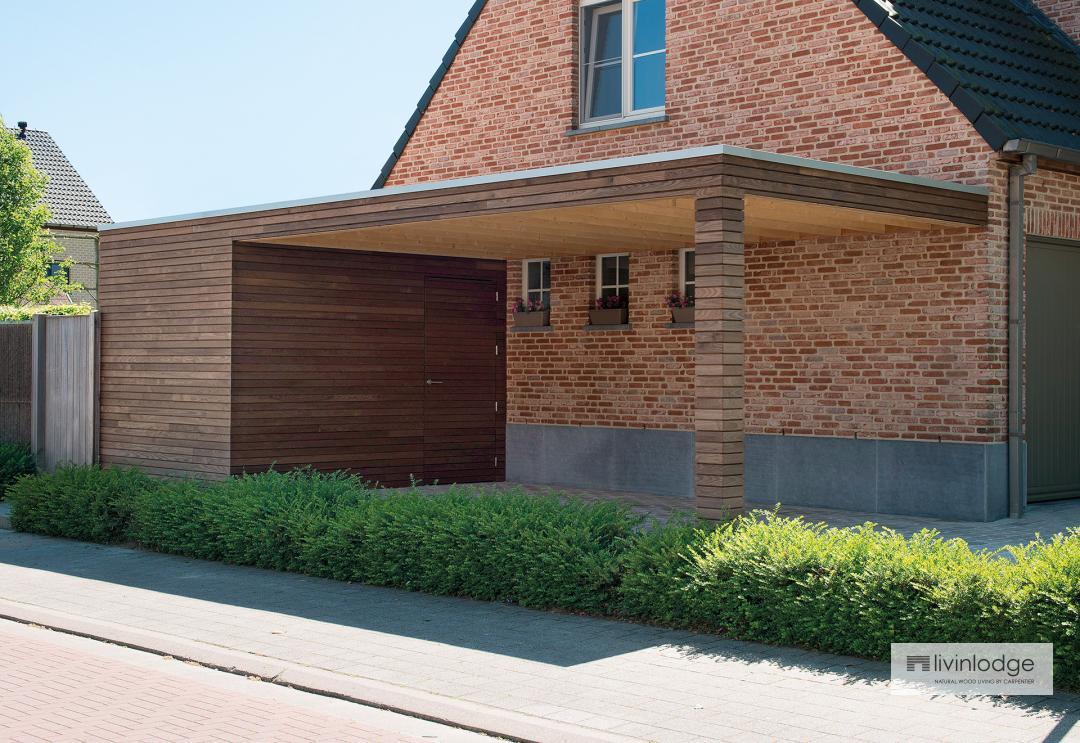 houten carport moderne look